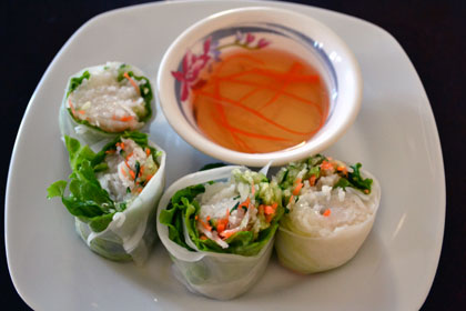 Vegetable Summer Rolls Ingredients (5 rolls)